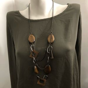 Jewelry - Multi strand wooden bead necklace 3 for $15